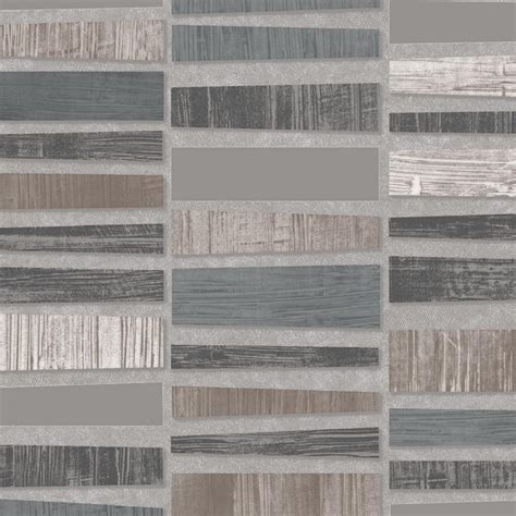 metallic tile effect wallpaper new bn wallcoverings plaza mosaic metallic lacquered tile