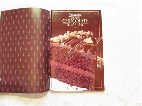 bakers book  chocolate riches vintage cookbook