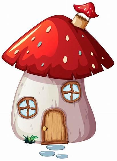 Mushroom Enchanted Pilzhaus Casa Maison Setas Kostenlos
