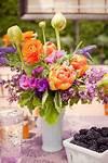 Purple Flower Arrangements on Pinterest | Yellow Flower purple and orange flower garden