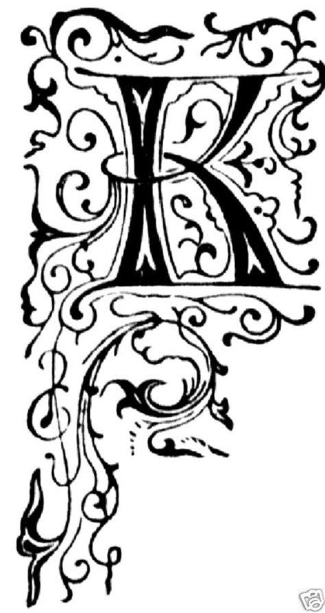 fancy letters  floral initial decorative letters letter