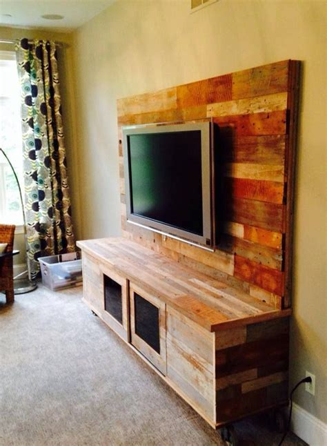 pallet projects wood entertainment center