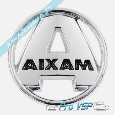 Choisissez une proposition de logo à personnaliser : Logo fond noir voiture sans permis Aixam Vision Sensation Emotion
