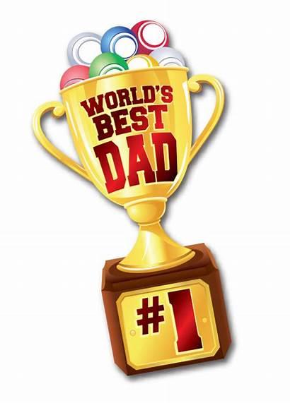 Dad Trophy Worlds Ink Bingo Arrow