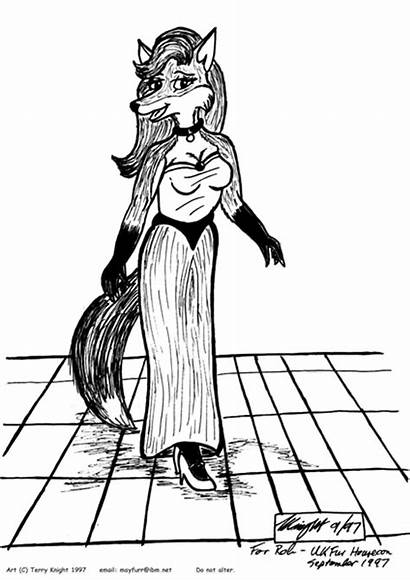 Vixen Furry Knight Terry Fox Evening Sophisticate