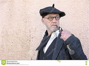Mature Man Wearing Traditional French Clothing With A ...
