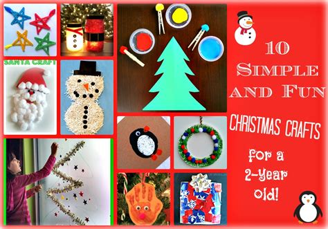 simple  fun christmas crafts   year olds