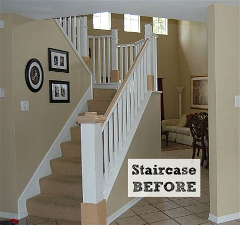 Pictures Of Painted Staircases In Homes by Before Amp After Jennifer S Diy Staircase Makeover Hooked