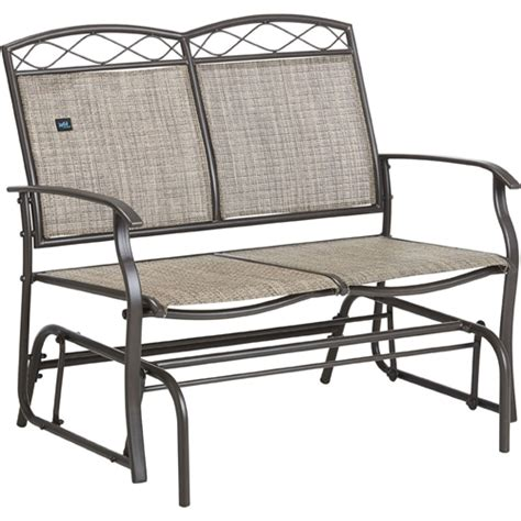 outdoor patio glider chair 2 person garden bench loveseat