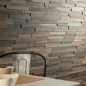 looks just like a wall covered in reclaimed wood planks With barnwood wall planks
