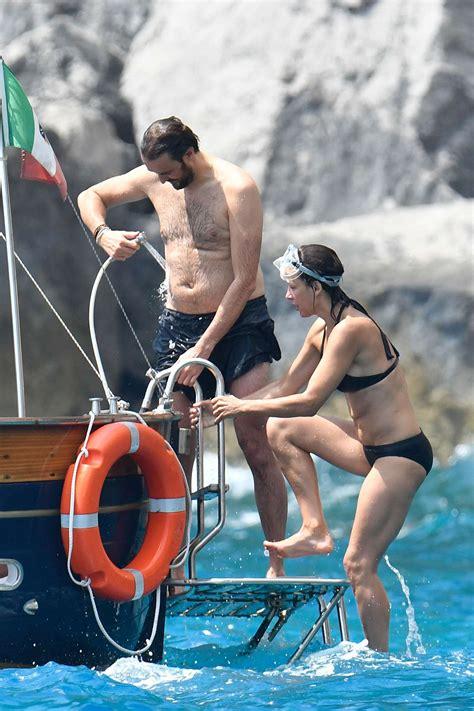 sophie marceau bikini sophie marceau in bikini on a yacht in capri gotceleb
