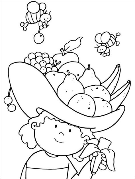 fruits coloring page health  fitness