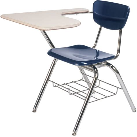 3000 series tablet arm school desk w book rack virco