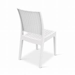 Chaise En Verre : tt1008 chaise de jardin en r sine et fibre de verre empilable en blanc ou marron sediarreda ~ Teatrodelosmanantiales.com Idées de Décoration