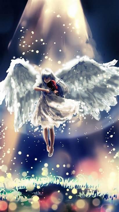Anime Angel Beats Flying Sky Background Heaven