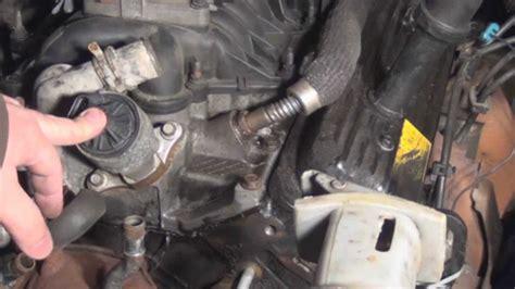 repair  broken egr tube   exhaust air tube