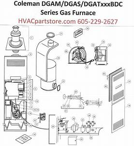 dgam056bdd coleman gas furnace parts hvacpartstore With furnace parts diagram further gas furnace parts moreover car ac wiring
