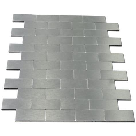 Peel And Stick Subway Tile Wallpaper by Brick Aluminium Tiles Backsplashes 12 Quot X12 Quot Metal Peel