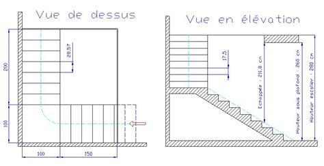 calcul d un escalier avec palier