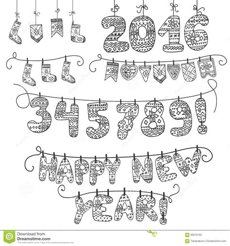 christmas calendarknitted letters hanging  rope cartoon