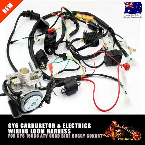 Gy6 200cc Atv Wiring by Gy6 150cc Carby Electrics Wiring Harness Atv Buggy