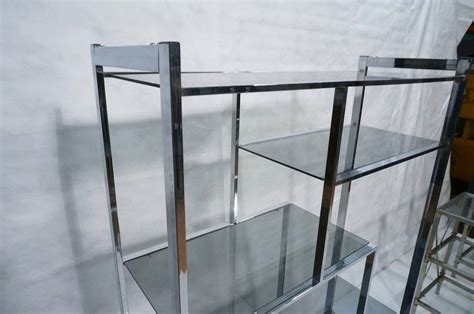 Chrome And Smoked Glass Etagere By Design Institute Of