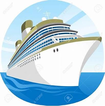 Cruise Ship Clip Cartoon Clipart Sea Transparent