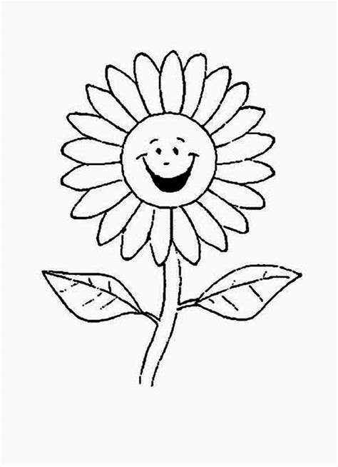cartoon  laughing daisy flower coloring page