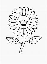 Daisy Flower Coloring Cartoon Laughing Sunflower Drawing Getdrawings Colornimbus sketch template