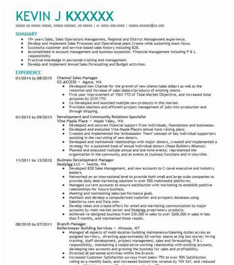 Channel Sales Manager Resume Sle by Channel Sales Manager Resume Sle Manager Resumes