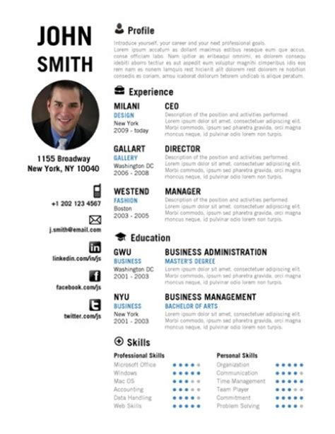 creative resume template  cvfolio resumes