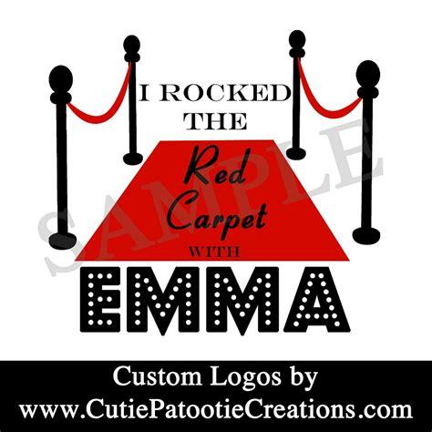 red carpet hollywood bat mitzvah logo black red  white