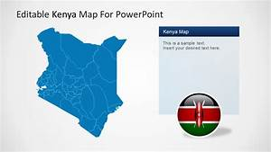 Kenya Powerpoint Map With Flag Icon