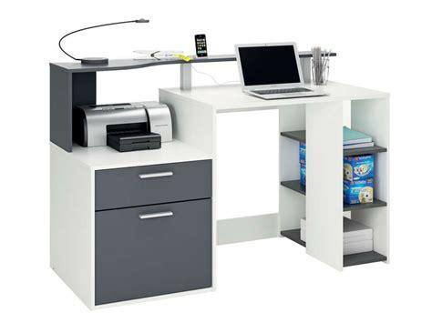 le de bureau conforama bureau 140 cm oracle coloris blanc et gris vente de