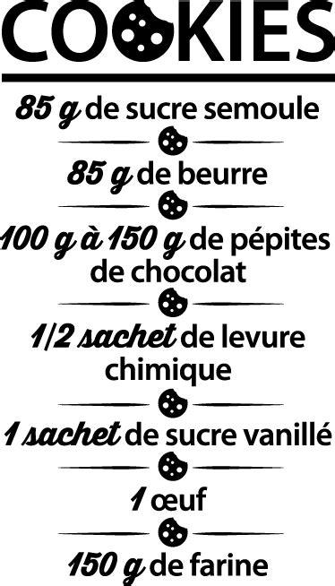 Sticker recette cookies - TenStickers