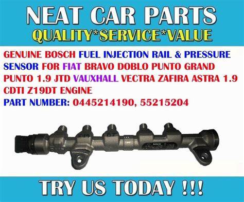 Fuel Pressure Injection Rail Sensor For Vauxhall Vectra