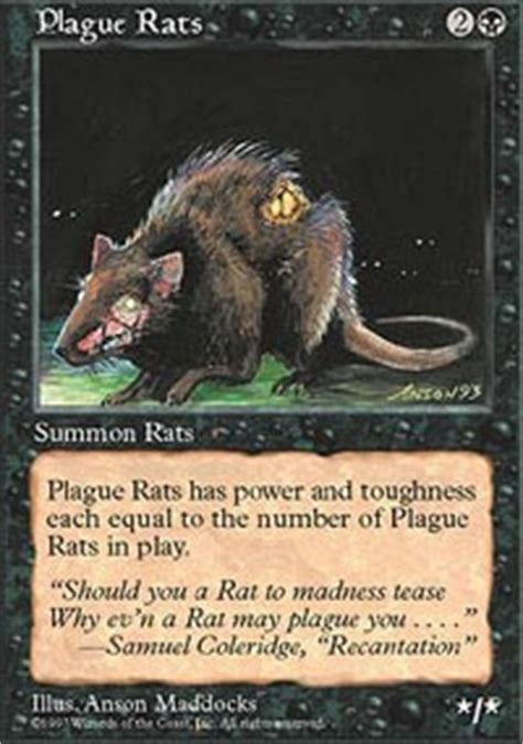 Mtg Rat Deck Tappedout by In Memory Of Plague Rats Legacy Mtg Deck