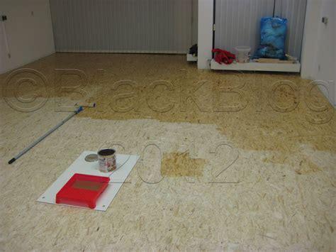Osb Platten Fußboden Erfahrungen by Gartenhaus Fussbodenaufbau