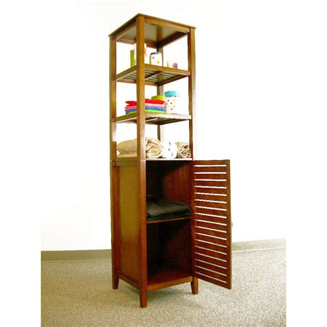 freestanding kitchen cabinet proman 16 5 quot x 66 25 quot free standing linen tower reviews 1074