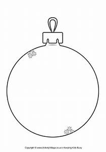 christmas bauble templates happy holidays With christmas baubles templates to colour