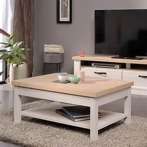 Table Bois Blanchi : table basse 91 80x40x63cm en d cor bois blanchi maison ~ Teatrodelosmanantiales.com Idées de Décoration