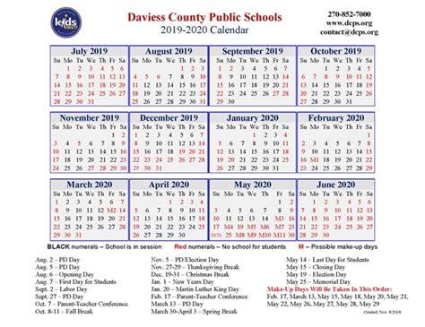 dcps calendar daviess county high school