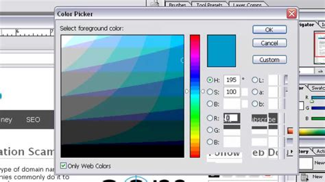 how to get color code of any color using adobe photoshop