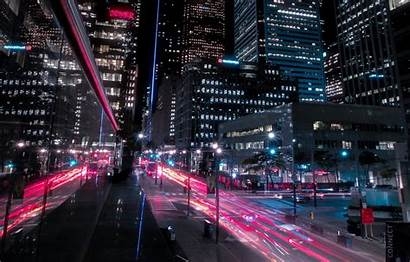 4k Night Street Background Toronto Ultra Canada
