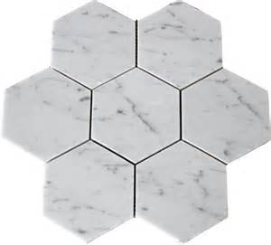 carrara 5x5 quot hexagon marble honed mosaic