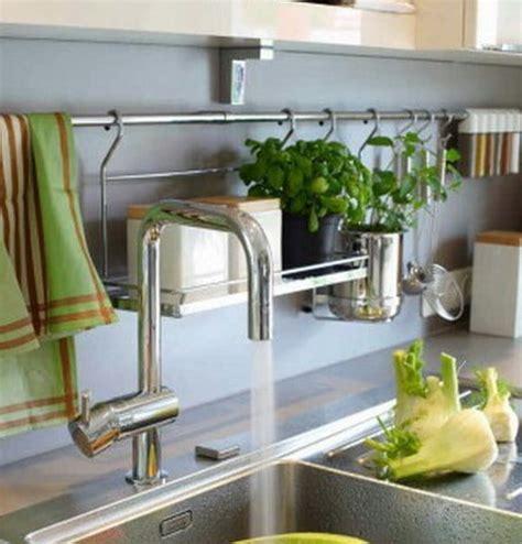 kitchen railing storage ideas kitchen organization