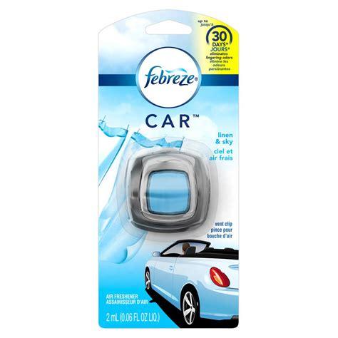 febreze  oz linen  sky car vent clip air freshener   home depot