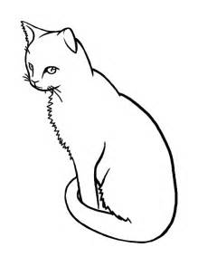 Sitting Cat Line Drawing
