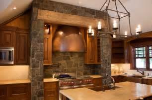 Stone Wall Two Column Modern Kitchen Design Interior Ideas