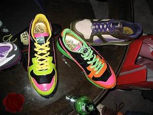 Roundhouse Kicks Neon Pattent Leather RS100s